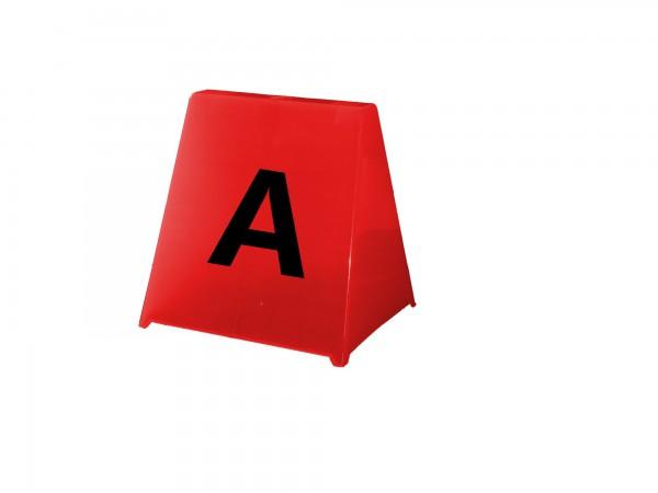 Trapez-Hütchen in rot, 29 x 32 cm