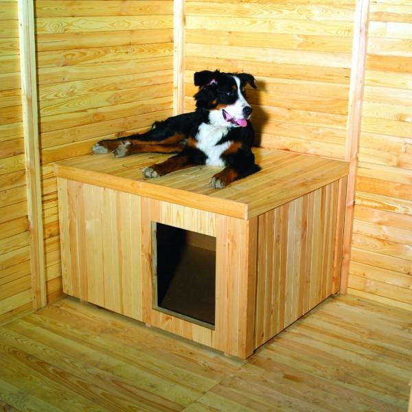 "Pferdesport Hundehütte für Hundezwinger ""Bruno"" natur Massivholz  108x89x69cm"