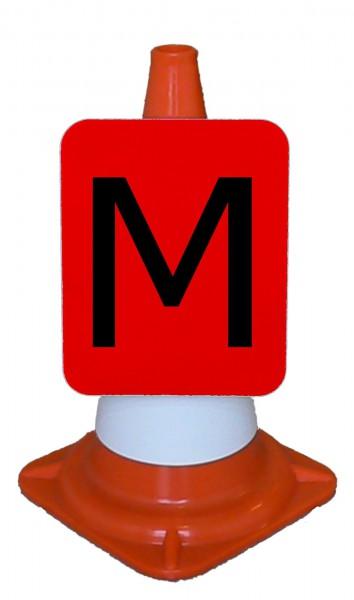 Tafel in rot, 22,5 x 27,5 cm, klappbar