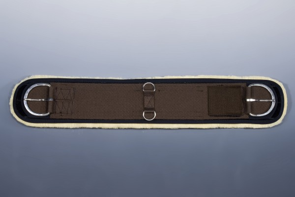 CHRIST Lammfell Westerngurtschoner, schwarz/natur, zum Aufkleben