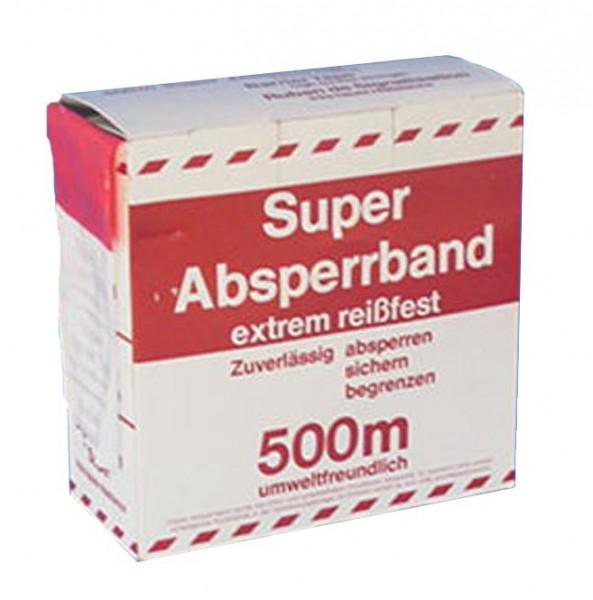Absperrband 500 m, rot/weiss gestreift, Breite 80 mm