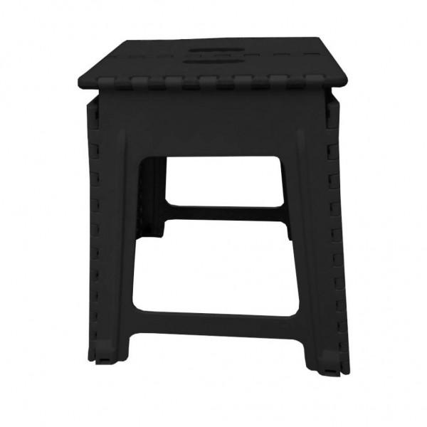 Klapphocker, schwarz, Kunststoff, 45 cm Hoch