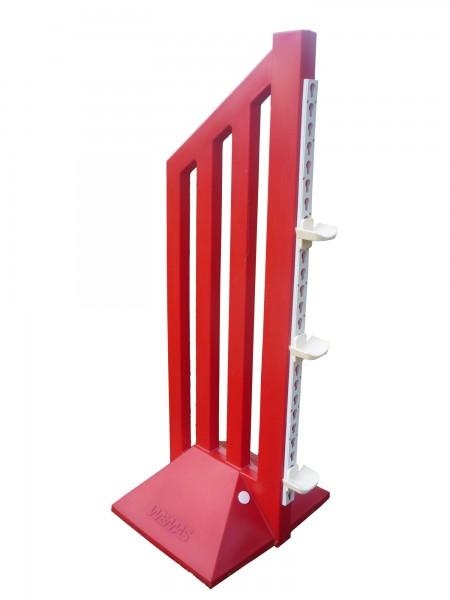 Trainingsfangständer, rot, ca. 160 x 59 cm (H x B), 12 kg