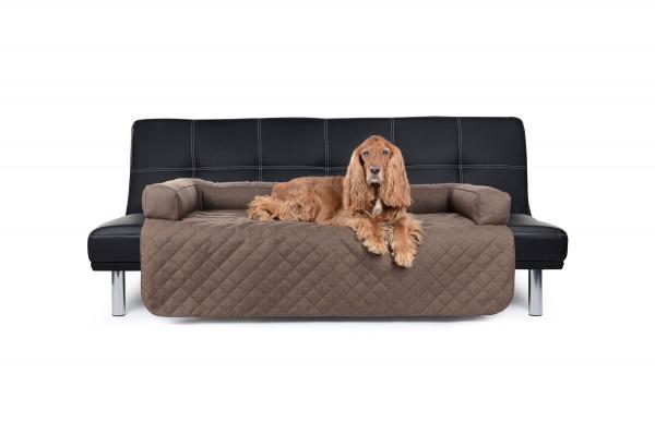 Sofaüberwurf als Schutz gegen Hundehaare