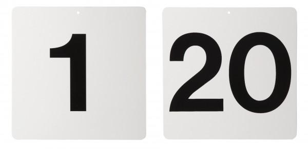Schild in weiss, ohne Buchstaben / Nummer