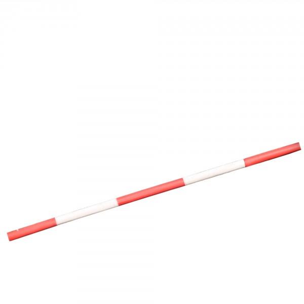 Kunststoff-Hindernisstange, rot-weiß, 300 cm, Durchmesser 10 cm