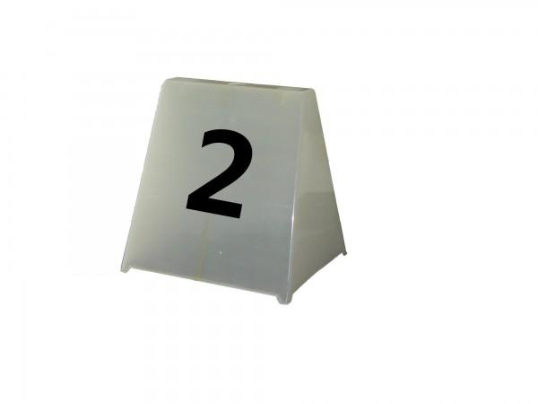 Trapez-Hütchen in weiss, 29 x 32 cm