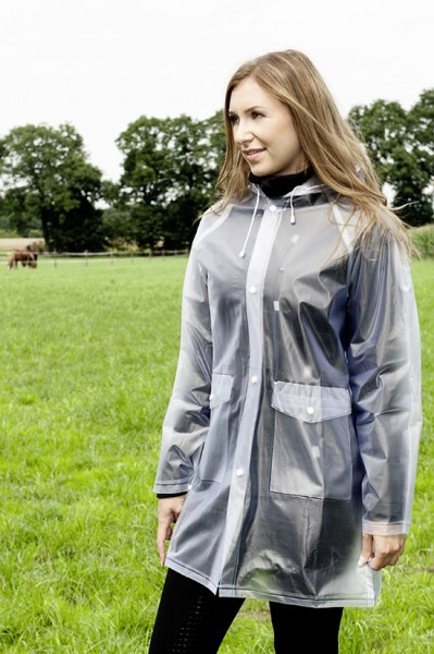 Regenjacke, transparent, Kinder, Damen