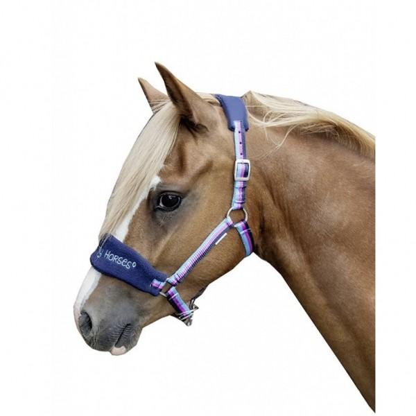 "Halfter ""Funny Horses"", dunkelblau/blau/dunkelpink"