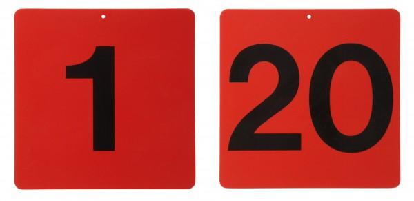 Schild in rot, ohne Buchstaben / Nummer