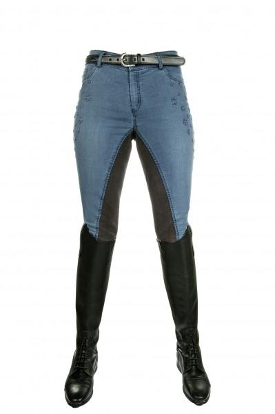 "Bibi & Tina Jeans-Reithose ""Girls vs. Boys Stars"", 3/4 Besatz"
