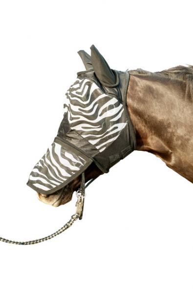 """Fliegenschutzmaske """"Zebra"""" mit Nüsternschutz"""