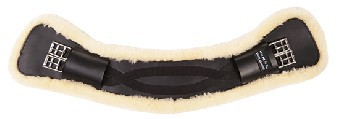 "Ledersattelgurt ""Wave"", mit abnehmbaren Lammfell 60"