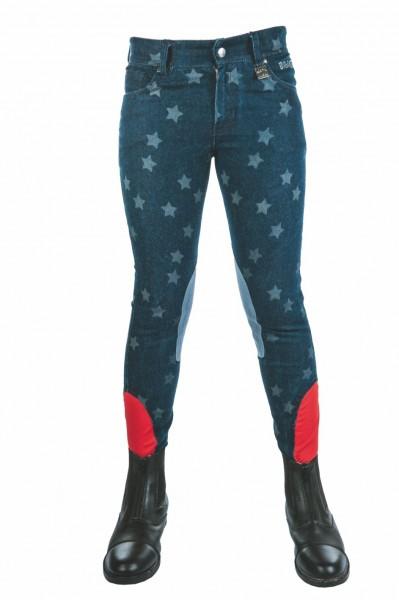 """Bibi & Tina Reithose """"Bibi & Tina Stars"""", 3/4 Besatz, jeansblau"""