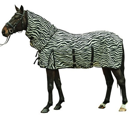 HKM Fliegendecke Zebra inkl. Halsteil 95cm