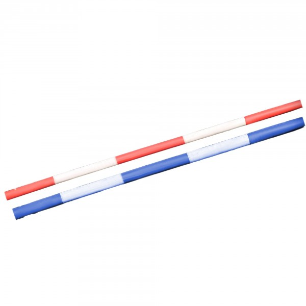 2 Kunststoff-Hindernisstangen, 300 cm, Durchmesser 10 cm