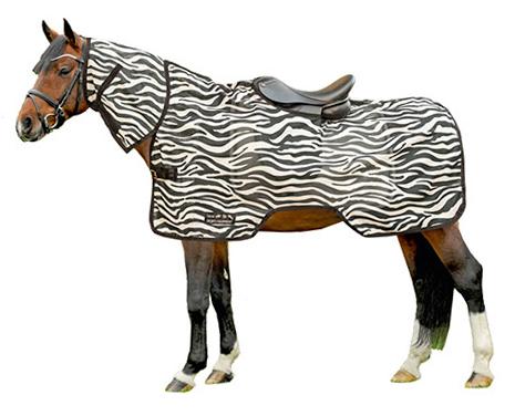 """Fliegenausreitdecke """"Zebra"""", weiß/schwarz"""