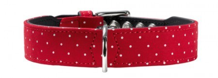 Hunter Halsband Textile Dots, rot