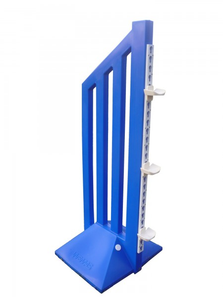 2er Set Trainingsfangständer, blau oder rot, ca. 160 x 59 cm (H x B), 12 kg