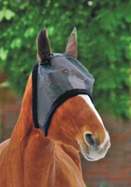 Fliegenschutzmaske mit Teddyrand