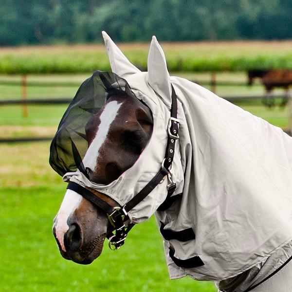 Ekzem-Maske mit Halsteil, grau