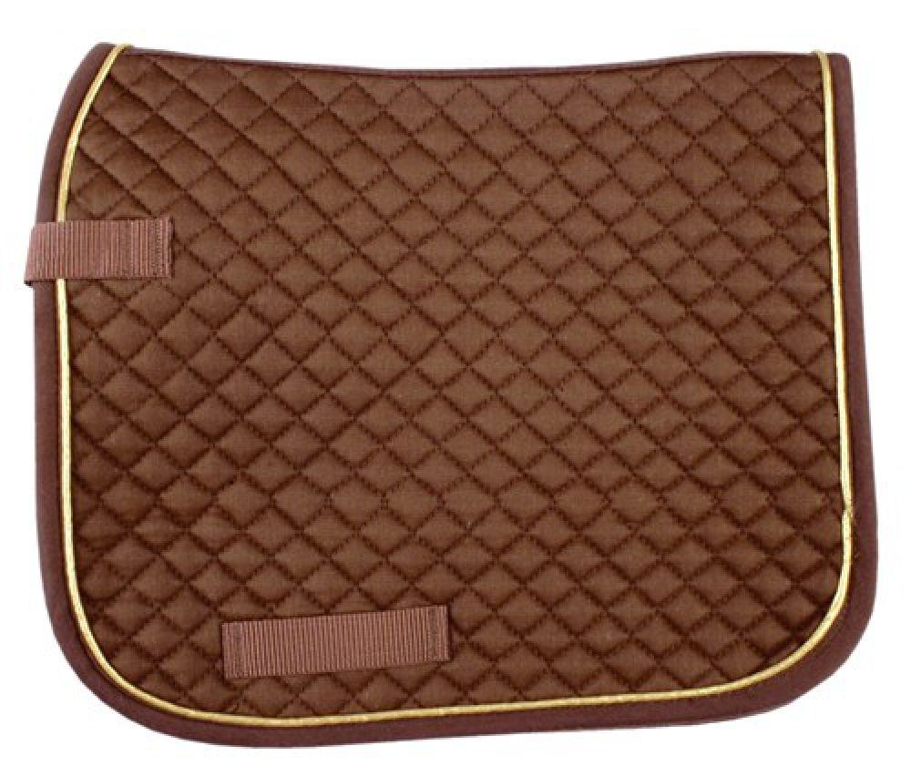 Hkm dressur schabracke pony braun gold sattelunterlage dressur ebay - Schabracke braun ...